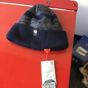 True Religion Beanie Reversible Navy Knit MSRP $70